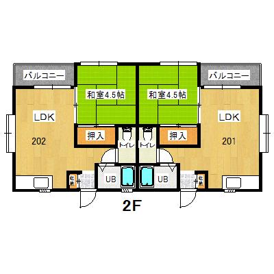 東金アパート1F201.202
