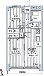 東亜サウスキャッスル303号間取り図_R