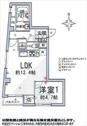 松栄戸越マンション803号間取り図_R