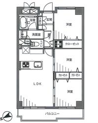 アイビハイツ南品川715号間取り図_R