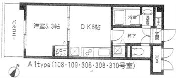 リバーレ東大井108・109・306・308・310号間取り図_R