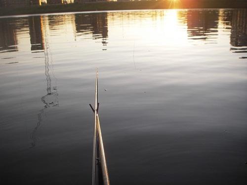 日没前の中川の釣り