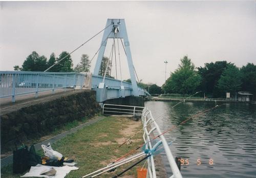 1995.5.8 水元大橋での釣り