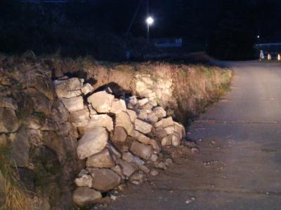 石積みの崩れ