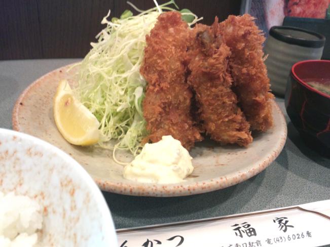 牡蠣フライ定食@三鷹福家さん