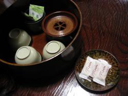 藤七温泉 彩雲荘 お茶菓子