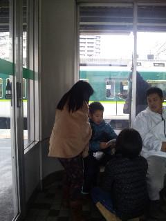 電車に乗って・・・