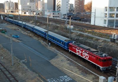 回9572レ EF65 1118+24系青森車7B+EF81 95