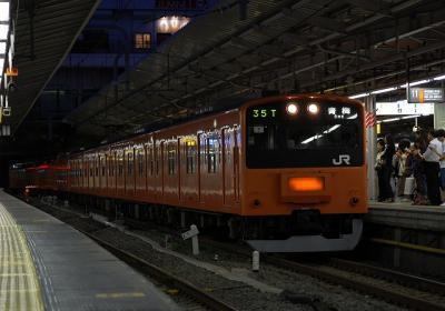 35T 201系H7編成 快速青梅行