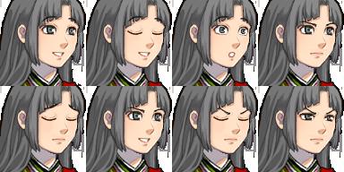 和風の姫君(立ち絵版顔グラ)