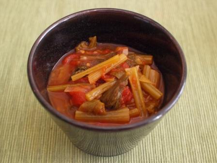 菜の花トマトスープ