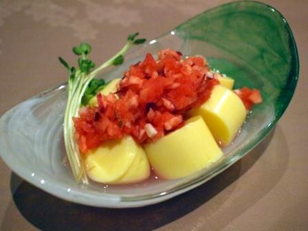 ラディッシュ卵豆腐