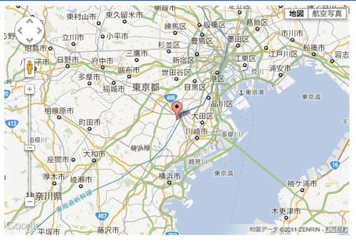 【HTML5】GeolocationAPIの実行結果