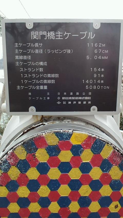 関門橋のワイヤー