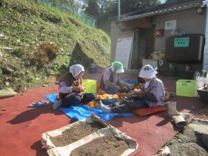 干し柿作り1