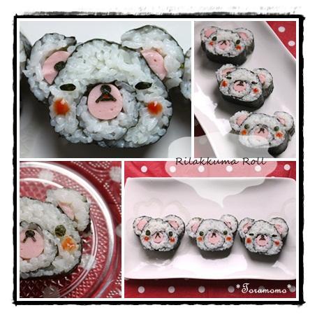 リラックマロール寿司