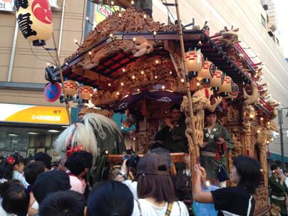 八王子祭り 山車の巡業