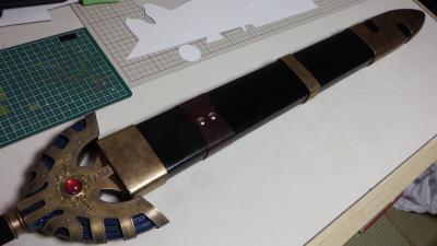 T様 金属刀身ver ロトの剣用 木製鞘 塗装完了2