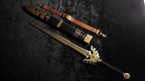 金属刀身ロトの剣&鞘 完成写真1