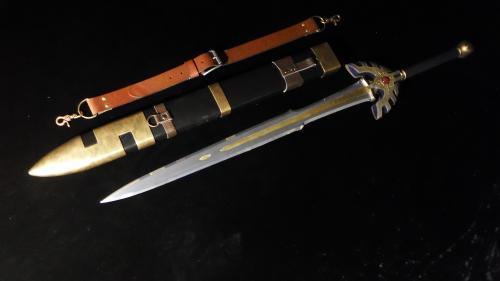 金属刀身ロトの剣&鞘 完成写真2