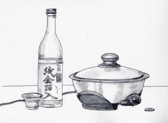 一人鍋 手酌酒 (650x476)