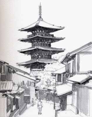八坂の塔 グリサイユ (314x400)