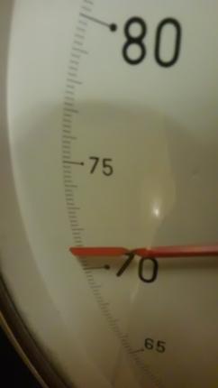 体重計71キロ