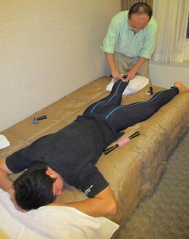 吉岡さんのふくらはぎを治療
