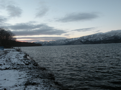 12月23日の屈斜路湖