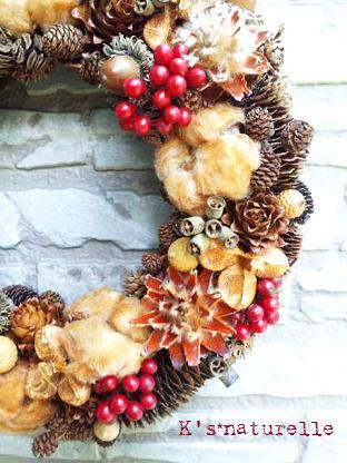 木の実の冬リース4