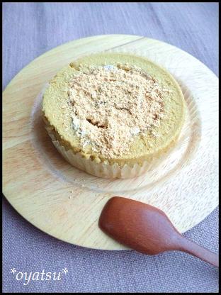 黒蜜とわらび餅のロールケーキ2
