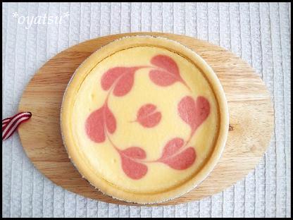 春のクリームチーズケーキ1