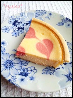 春のクリームチーズケーキ2