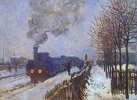 雪の中の汽車