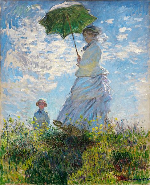 クロードモネ日傘の女