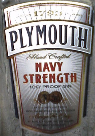 PLYMOUTH - Navy Strength(label)