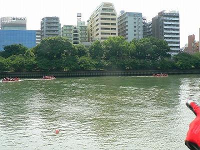 Eボート大川を行く
