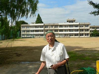福島第2中学校にて