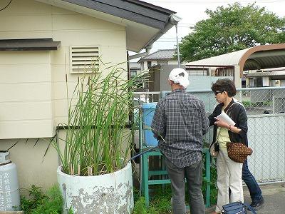 浜吉田駅ホーム雨水タンク