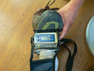 大阪に帰りついて、空港で靴を測定。何もでず