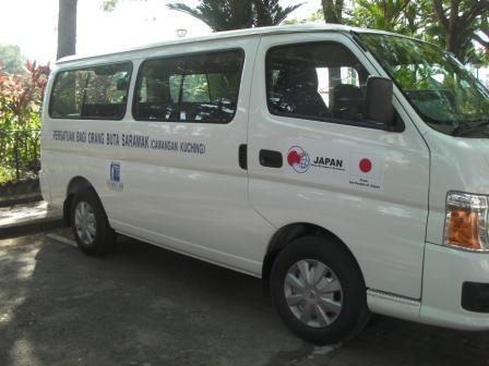 サラワク盲人協会の車