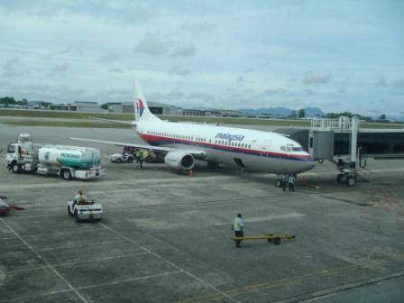 マレーシア空港の飛行機