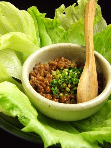 挽肉と納豆