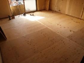 10畳洋室床下地組