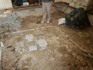 キッチン床解体状況