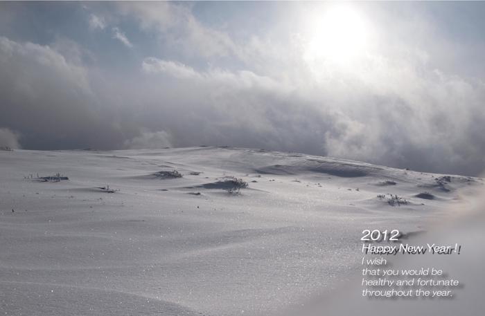 雪景色の年賀状