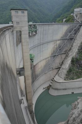 小渋ダムエレベーターシャフト