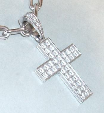 カルティエ クロス K18WG+ダイヤ