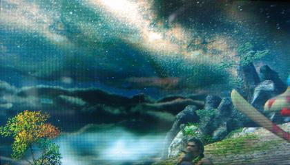 渓流夜景2