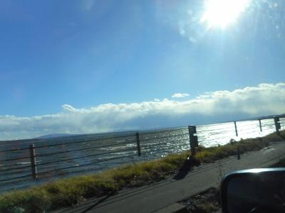 大荒れの網走湖